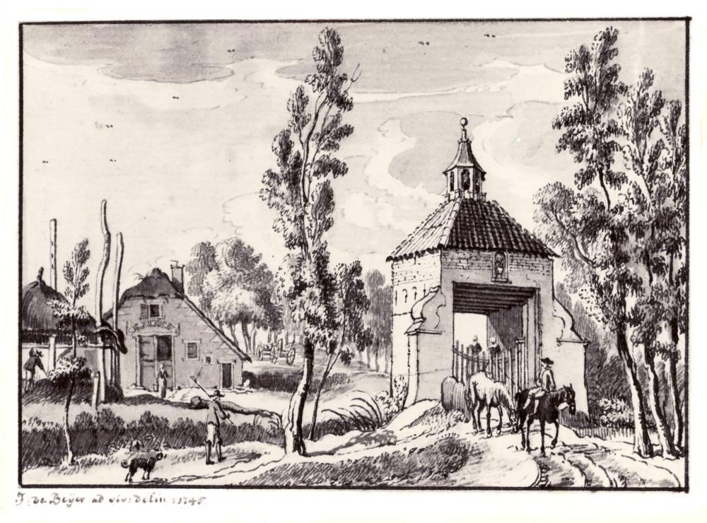 Blikkenburg in Zeist. Tekening Jan de Beijer, 1745
